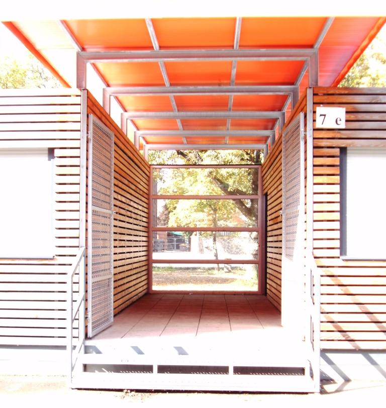 Pavillon Eingang